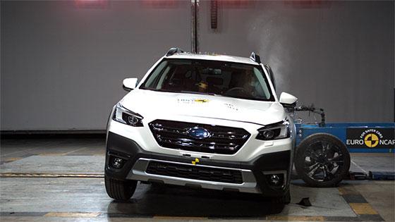 מבחני ריסוק NCAP לסובארו אאוטבק 2021 אודי Q4 E-tron ועוד