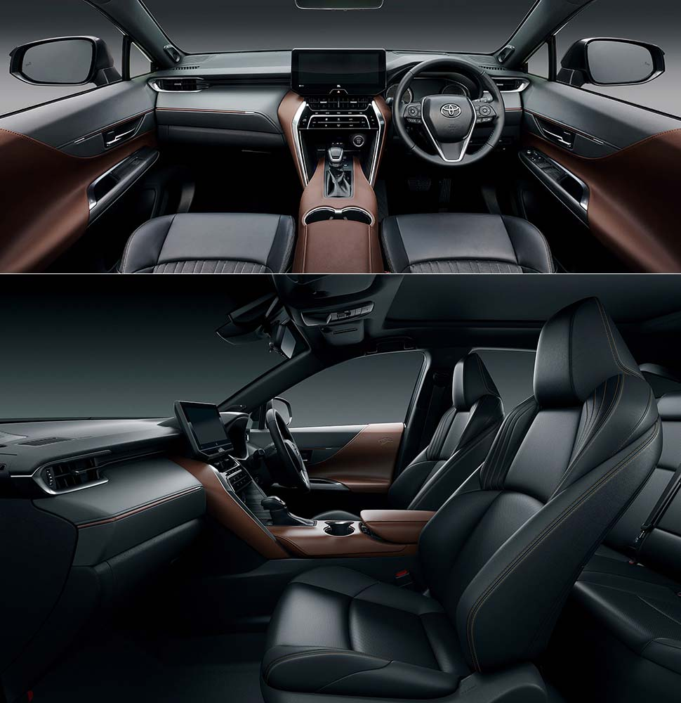 The new Toyota Harrier passenger compartment